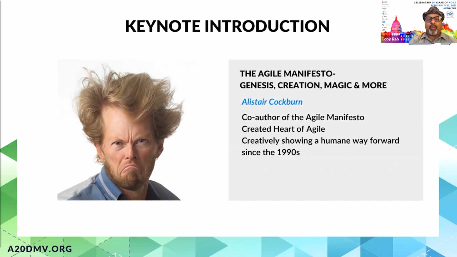 The Agile Manifesto Genesis, Creation, Magic and more with Alistair Cockburn