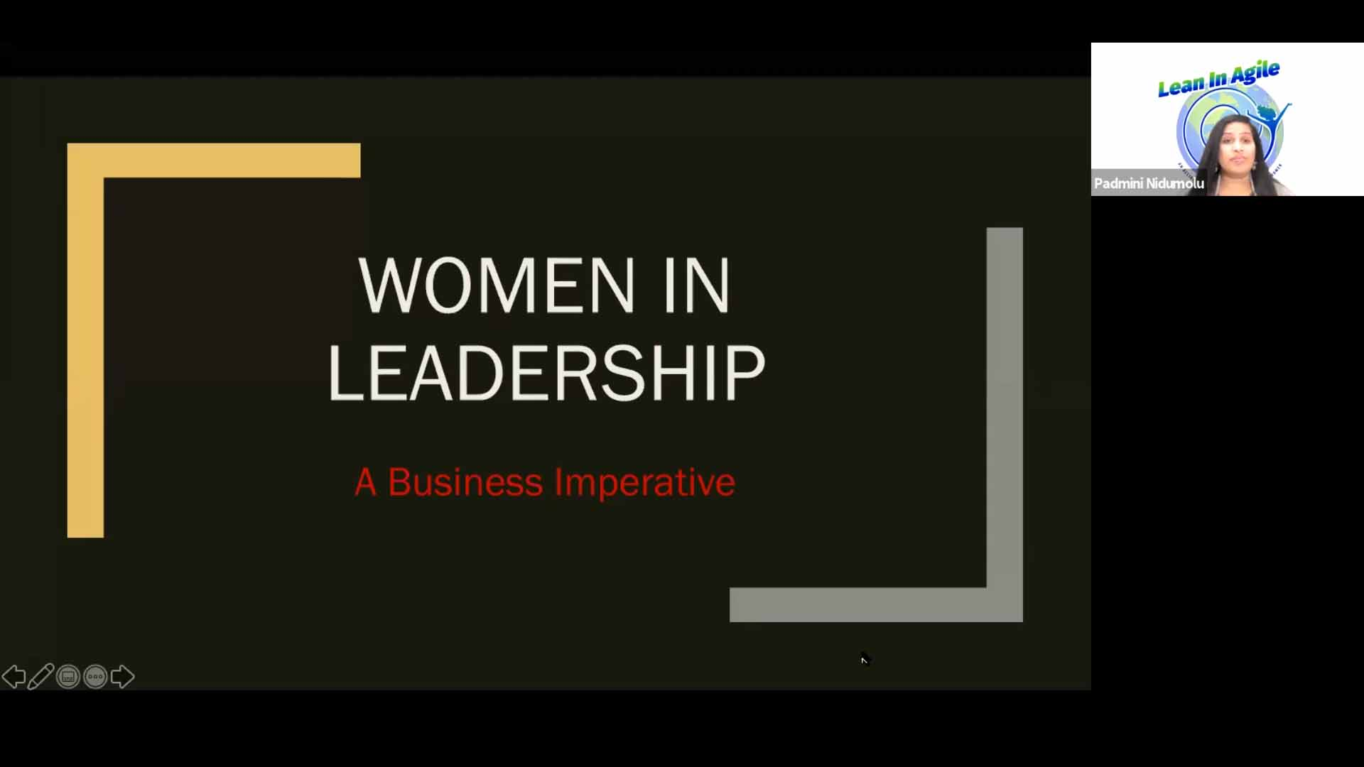 Lean In Agile - Enabling women in leadership